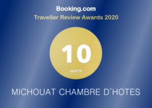 Booking.com Traveller Review Awards 2020 10/10